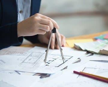 Bauplanzeichnung