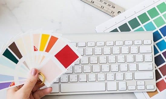 Papierauswahl Farbauswahl